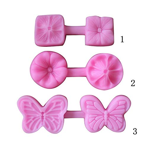 Cake Molds - 3d Cherry Cake Mold 3 Modle Fondant Molds Silicone Baking Confectionery Sugar Paste Decor Stencil - Rectangle Shapes Nuts Circle Ring Healthy Decorating Roses Lose Pans Cake Alph Square Loaf Pan