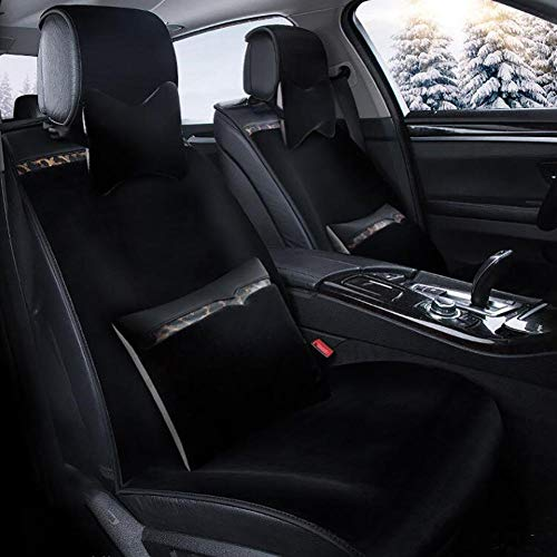 Sitzkissen für das Auto Auto-Polsterauflage aus Flachs mit vier vollen Surround-Autositzen...
