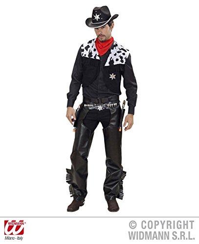 KOSTÜM - COWBOY - schwarz, Größe 54 (XL), Wilder Westen Indianer Revolverheld Rodeo (Für Männer Cowboy Kostüm)