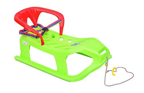 Skyline Slitta 2 in 1 per Bambini, con Schienale e Cintura in plastica, Verde