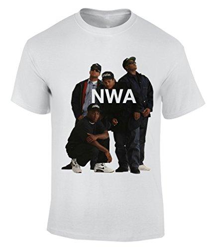 NWA Niggaz Wit Attitudes T-Shirt Herren Weiß
