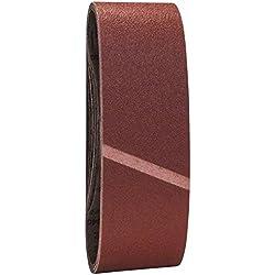 Bosch 2607017155 Set de 9 abrasifs pour Ponceuse à bande 75 x 533 mm Grains 3 X 60 + 3 x 80 + 3 x 100