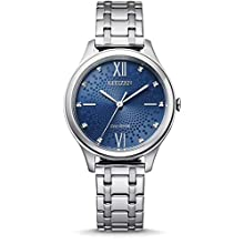 CITIZEN Women's Analogue Eco-Drive Watch with Stainless Steel Strap EM0500-73L