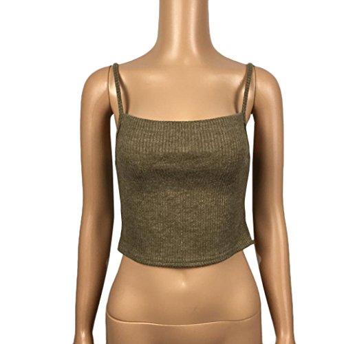 OverDose Damen Spitze Choker-Ansatz V Ansatz lose beiläufiges langes Hülsen Oberseiten Blusen Hemd Armeegrün
