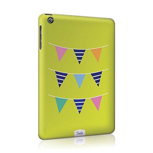 Tirita plastica rigida iPad Cover Trendy Fashion Design Shabby Chic Vintage motivo (Bunting Modello)