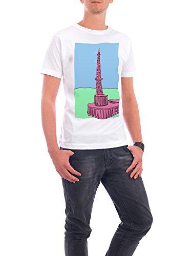 """Design T-Shirt Männer Continental Cotton """"Funkturm Berlin pink"""" - stylisches Shirt Städte / Berlin Architektur von Fischli Weiß"""