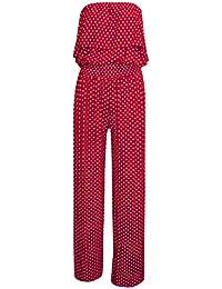 Fast Fashion - Jumpsuit Sans Manches Point De Polka Frill Front Ceinturée Palazzo - Femmes