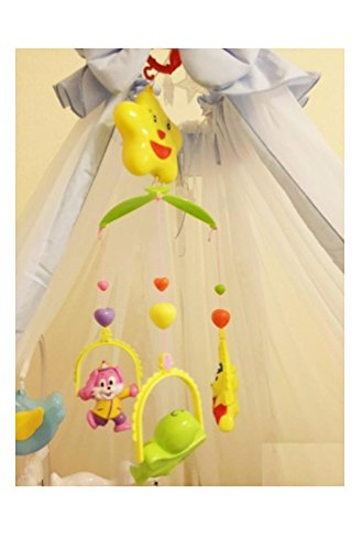 Vibgyor VibesTM 5 PCS Lovely Colourful Musical Hanging Rattle Toys with Hanging Cartoons for Toddlers/Babies/Infants/Newborns