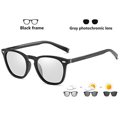 Eyetary Photochrome Sonnenbrille Polarisiert Damen Herren, Nachtsichtgläser für Brille - Klassische TR90-Rahmen Entspiegelt linse UV400 für Zum Angeln Autofahren Fahrrad Beach,BlackFrame