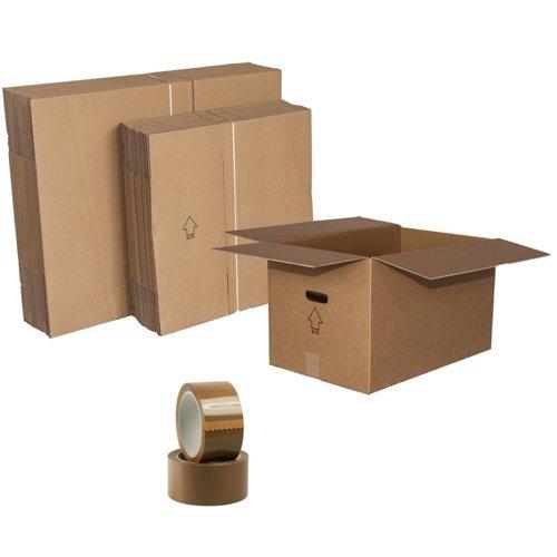 Scatole per trasloco cartone doppia onda pz:30 :15 scatole biancheria cm. 60x40x35 + 15 scatole libri-fragili cm. 40x30x35,2 nastri adesivi omaggio