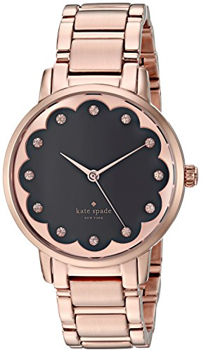 kate spade new york Women's 'Gramercy' Quartz Stainless Steel Casual Watch, Color:Rose Gold-Toned (Model: KSW1044)