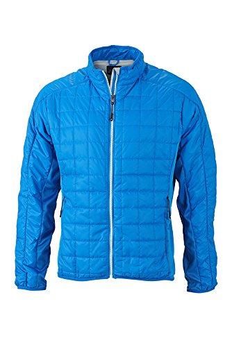 James & Nicholson Herren Hybrid Jacket Jacke, Blau (Cobalt/Silver), XX-Large -