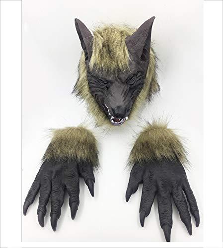 Realistische Wolf Anzug - Yjdkd Halloween Wolf Kopf Maske, Animal