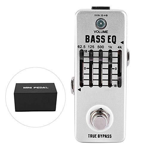RiToEasysports Bass Equalizer Bass EQ Pedal Gitarrenpedale Bass Balance Analog Echo für E-Bass für Indoor-Training und Live-Auftritte