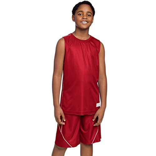 Sport-Tek yt555 Youth posicharge-Mesh wendbar ärmellos Tee Gr. Small, True Red (Tee Red Jugend-true)