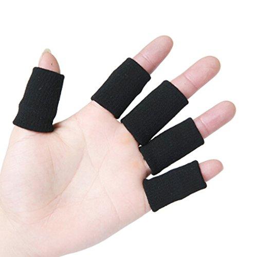 L_shop Finger-Berufssport-Finger-Knöchel-Nylonbasketball-Finger-Sporting Waren-Hürden,Schwarz,1.57*1.10inch (Baseball-handgelenk-protektor)