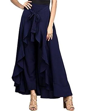 Asvivid - Falda Larga para Mujer, Cintura Alta, Suelta, Pantalones Palazzo
