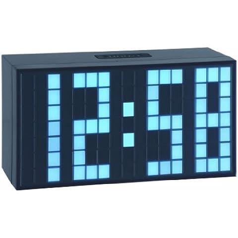 TFA 98.1082.02 - Reloj despertador digital LED, de diseño, color azul claro
