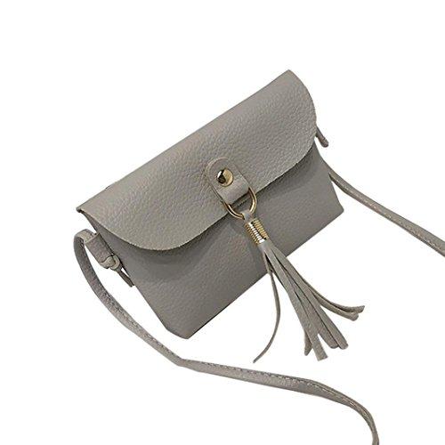 Amlaiwolrd Sac ❤️ Sacs à Bandoulière Femmes, de gland de mode Sac à Main Vintage Petit mini sac Sac à Bandoulière Messenger Gland