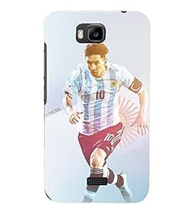 PRINTSHOPPII FOOTBALL Back Case Cover for Huawei Honor Bee::Huawei Y5C