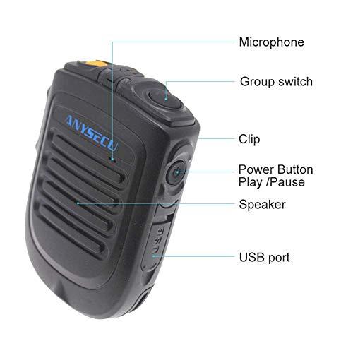 Telefono Walkie Talkie Portatile, Microfono Vivavoce Bluetooth PTT Wireless, per Radio di Rete Android POC Telefono Walkie Talkie Funziona con Zello PTT - Nero (1 pz)