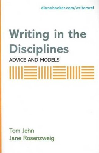 Writing in the Disciplines: Advice and Models: A Supplement to Accompany A Writer's Reference by Diana Hacker (2007-04-23)