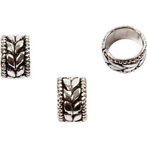 Ring , Größe 8x8x5 mm, antiksilber, Sterlingsilber versilbert, 61Stck.