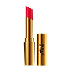 Lakmé Absolute Argan Oil Lip Color, Drenched Red, 3.4g