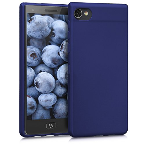 kwmobile Hülle für Blackberry Motion - TPU Silikon Backcover Case Handy Schutzhülle - Cover Metallic Blau