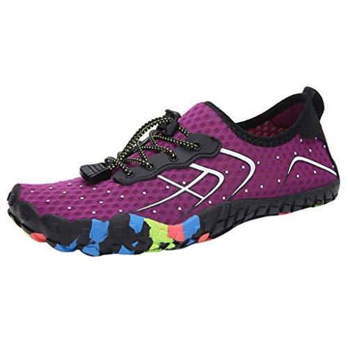 Teal Patent Schuhe (Fenverk Unisex Aquaschuhe Wasserschuhe Schwimmschuhe Weiche Atmungsaktiv Leicht rutschfest Schuhe FüR Damen Herrenstrandschuhe Herren Schnell Trocknen Surfschuhe Barfussschuhe (Lila, 38 EU))