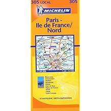 Carte routière : Oise - Paris - Val-d'Oise, N° 11305