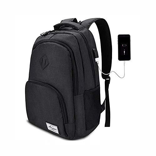 ADIDAC AUGUR USB-Lade Rucksack Rucksäcke Männlich Casual Rückentasche Reise Teenager Student School Computer Laptop Taschen für Frauen Mann 46 * 32 * 15 cm