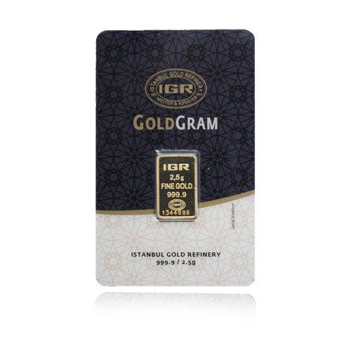 2,5g Gold 2,5 Gramm Goldbarren IGR 999,9 Feingold LBMA zertifiziert
