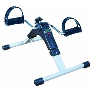 NRS Healthcare M37352 faltbarer Pedaltrainer mit verstellbarem Widerstand und digitaler Anzeige
