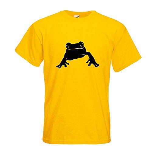 KIWISTAR - Frosch Frog Teich T-Shirt in 15 verschiedenen Farben - Herren Funshirt bedruckt Design Sprüche Spruch Motive Oberteil Baumwolle Print Größe S M L XL XXL Gelb