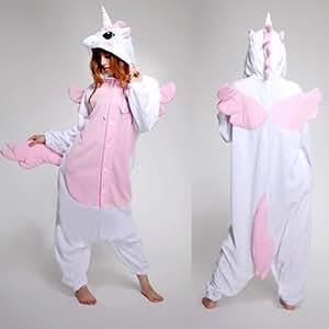 Animal Cosplay Déguisements pour adultes et enfants Pyjamas Vêtements de nuit Déguisements Cadeaux pour enfants et adultes à Noël, Halloween et pour Carnaval Pink Unicorn S / ( your height : 148- 160cm )