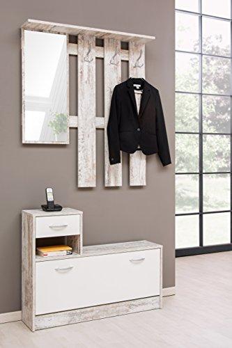 Avanti trendstore - guardaroba, multicolore (legno/chiaro/bianco) - ca. 100x180x25 cm