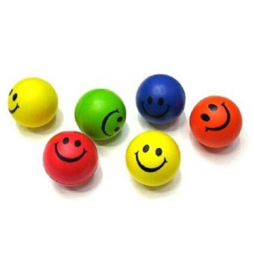 Loveso-Haustier Hunde Spielzeug 12st Mini Neon Smiley Face entspannbare Balls (12 PCs)