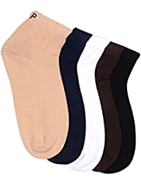 Hush Puppies Men's Ankle Soft Combed Cotton Pack of 5 Pair Socks