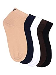 Hush Puppies Mens Ankle Soft Combed Cotton Pack of 5 Pair Socks