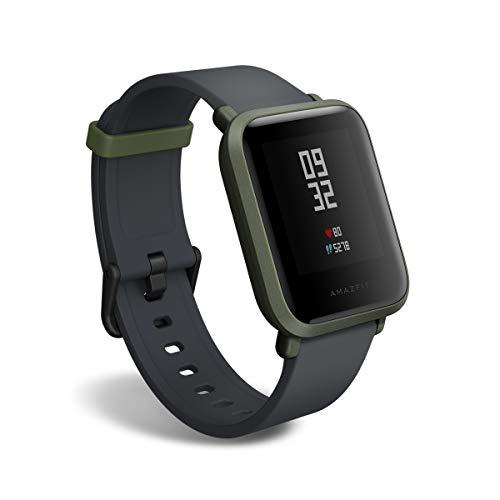 Amazfit Bip Smartwatch, GPS Activity tracker mit Herzfrequenzmessung Schlafmonitor, Fitness-Tracker, Schrittzähler, Kalorienzähler, IP68 Wasserdicht, 30+ Tage Akkulaufzeit,Green)
