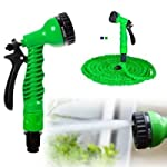 krishnalifestyle Expandable Magic Flexible Plastic Hose Pipe Nozzle with Spray Gun and 7 Adjustable Modes