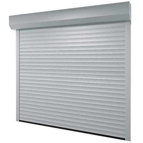 Puerta-de-garaje-268-x-250-cm-medida-de-la-luz-232-x-220-cm-color-plateado