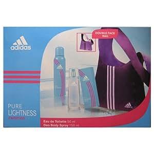 Adidas - Coffret Eau de Toilette 50 ml + Déodorant 150 ml + Sac réversible - Pure Lightness