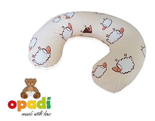 OPADI Mini Coussin d'allaitement pour StillMoon Coussin d'allaitement Coussin d'allaitement Motif mouton Beige