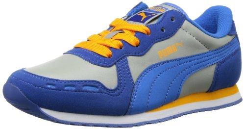Puma Cabana Racer SL Jr 351979 Unisex-Kinder Sneaker, Mehrfarbig (monaco blue-limestone gray-french blue-bright marigold 25), EU 36 (UK 3.5) (US 4.5) (Puma Kleinkind Schuhe)