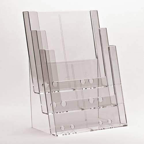 Taymar Prospektständer / Flyerständer 3 Fächer DIN A4 hintereinander