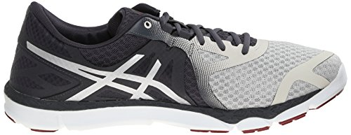 Asics 33-DFA Synthétique Chaussure de Course Vanilla Ice-Silver-Deep Ruby