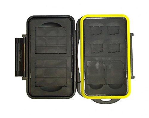 JJC MC-CF/SD/MSD8 robuste wasserdichte Memory Card Case (2 X CF / 2 x SD / 4 X MicroSD) (Wasserdicht Memory Case Card)