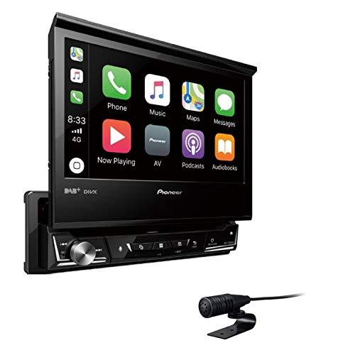 "Pioneer AVH-Z7100DAB \""1DIN\"" Autoradio Clear-Resistive-Touchscreen Bluetooth, Digitalradio \""DAB+\"" Media-Receiver, 17,8 cm (7 Zoll) Schwarz"